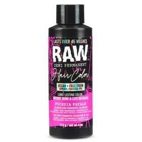 Raw Demi-Permanent Hair Color, Fuchsia Fatale, 4 fl oz.
