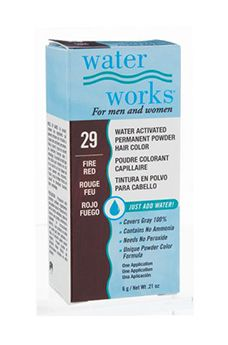 Water Works® Water Activated Permanent Powder Hair Color - #29 Fire Red