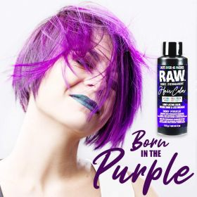 Raw Demi-Permanent Hair Color, Deep Purple, 4 fl oz.