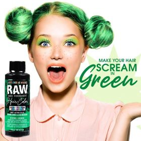 Raw Demi-Permanent Hair Color, Super Green, 4 fl oz.