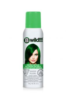 B Wild Temporary Hair Color Spray - Jaguar Green