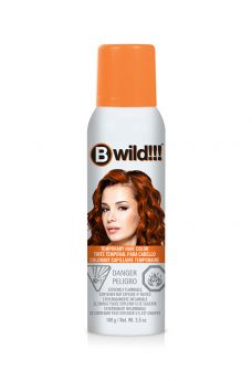 B Wild Temporary Hair Color Spray - Tiger Orange