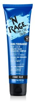 'N RAGE Demi-Permanent Hair Color, Cobalt Blue, 4 fl oz