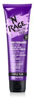 'N RAGE Demi-Permanent Hair Color, Purple Plum, 4 fl oz