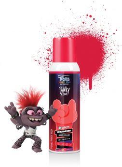 Punky Colour x Trolls, B Wild Temporary Hair Color Spray, Punk Rock Red, 3.5 oz