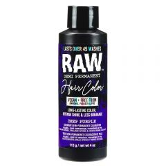 Raw Demi-Permanent Hair Color, Deep Purple, 4 fl oz.