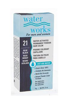 Water Works® Water Activated Permanent Powder Hair Color - #21 Blue Black