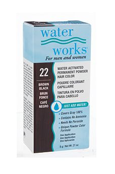 Water Works® Water Activated Permanent Powder Hair Color- #22 Brown Black