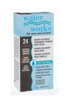 Water Works® Water Activated Permanent Powder Hair Color - #24 Natural Medium Brown