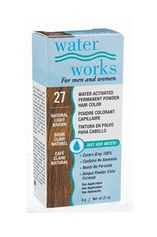 Water Works® Water Activated Permanent Powder Hair Color - #27 Natural Light Brown