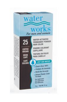 Water Works® Water Activated Permanent Powder Hair Color - #25 Coffee Brown