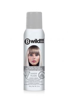B Wild Temporary Hair Color Spray - Siberian White