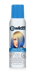B Wild Temporary Hair Color Spray - Bengal Blue