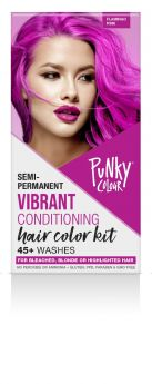 Punky Colour Semi-Permanent Hair Color Kit, Flamingo Pink