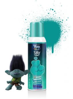 Punky Colour x Trolls, B Sweet Temporary Hair Color Spray, Turn Up the Teal, 3.5 oz