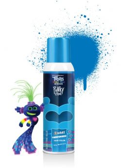 Punky Colour x Trolls, B Wild Temporary Hair Color Spray, Electric Blue, 3.5 oz